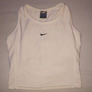 Nike White Dri-Fit Sports Bra, Size Small (4-6)